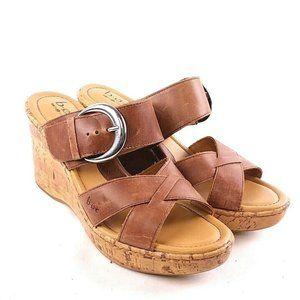 boc Shoes - BOC Brown Cork Wedge Sandal sh58
